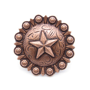 Star Clavo Decorative Nail, 4-Pack, Copper Oxide