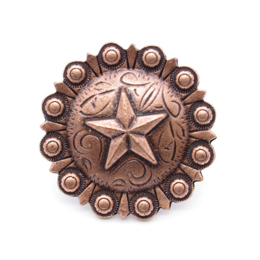 View a Larger Image of Star Clavo Decorative Nail, 8-Pack, Copper Oxide