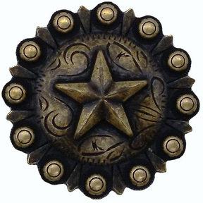 Star Conch Knob, Brass Oxide