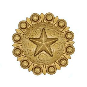 Star Conch Knob, Lux Gold