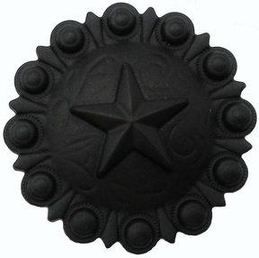 Star Conch Knob, Matte Black