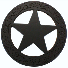 Star Knob with Engraved Edge, Oil Rubbed Bronze