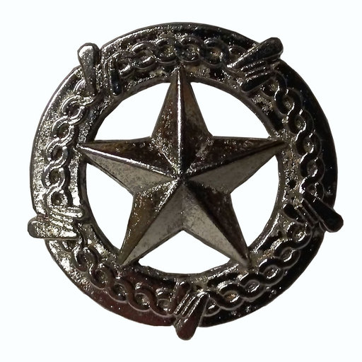 View a Larger Image of Star with Barbed Wire Knob, Satin Nickel