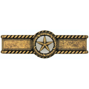 Star with Barbed Wire Pull, Brass Oxide