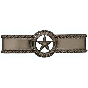 Star with Barbed Wire Pull, Satin Nickel