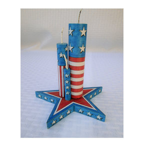 Star with Pretend Firecrackers  Woodworking Pattern and Picture