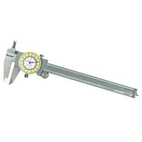 """Stainless Steel White/Yellow Dial Caliper 0-6"""" Fractional Range"""