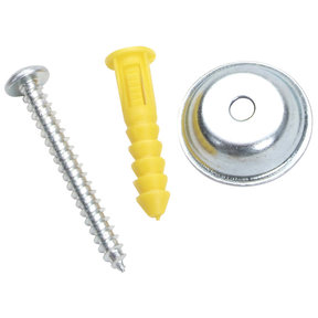 """Steel/Plastic Pegboard Mounting & Spacer Kit for DuraBoard or 1/8"""" & 1/4""""Pegboard, 16 Sets"""