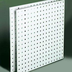 "Steel Square Hole Peg Board (2), White, 24""x24"""