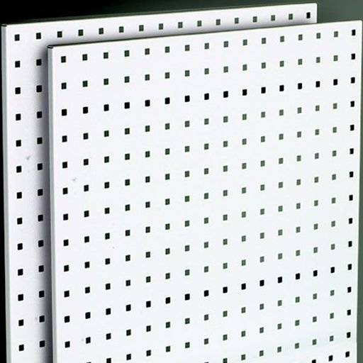 """View a Larger Image of Steel Square Hole Peg Board (2), White, 42-1/2""""x24"""""""
