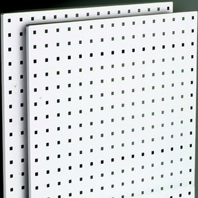 "Steel Square Hole Peg Board (2), White, 42-1/2""x24"""