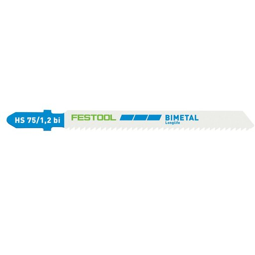 View a Larger Image of Steel/Stainless Steel Metal Cutting Jigsaw Blades, 75mm L, 1.2 pitch, 5 pack