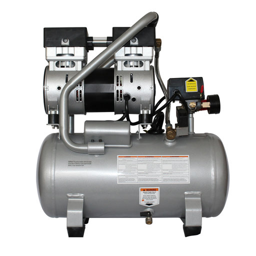 View a Larger Image of 1HP 4.7 Gallon Oil-Free Steel Tank Air Compressor