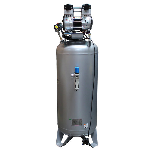 View a Larger Image of 4HP 60 Gallon Oil-Free Steel Tank Air Compressor with Auto Drain Valve