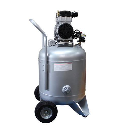 View a Larger Image of 2HP 220V 30 Gallon Oil-Free Steel Tank Air Compressor with Auto Drain Valve