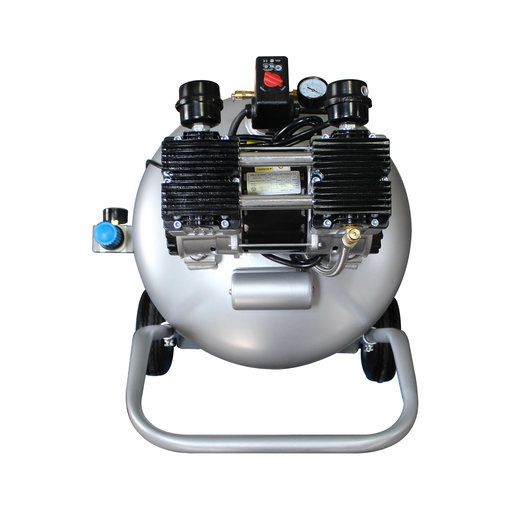 View a Larger Image of 2HP 30 Gallon Oil-Free Steel Tank Air Compressor with Auto Drain Valve