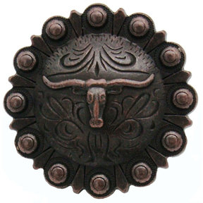 Steer in Round, Oil Rubbed Bronze