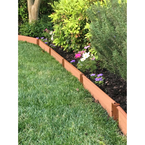 """View a Larger Image of Classic Sienna Straight Landscape Edging Kit 16' - 1"""" profile"""