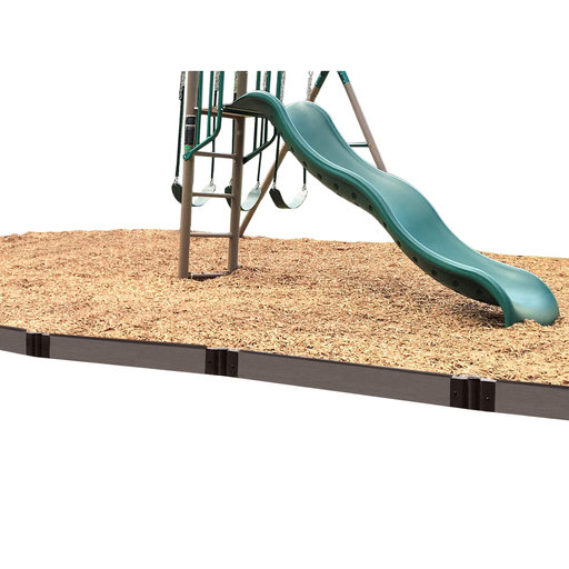 """View a Larger Image of Weathered Wood Straight Playground Border 16' - 1"""" profile"""