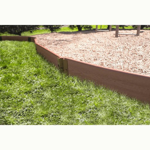 """View a Larger Image of Classic Sienna Straight Playground Border 16' – 1"""" profile"""