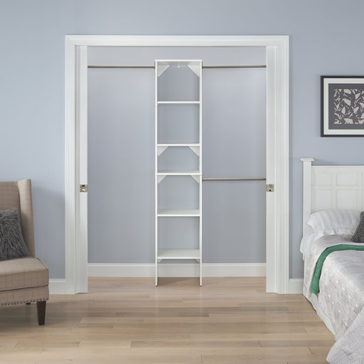"""View a Larger Image of SuiteSymphony 16"""" W Starter Closet Tower Kit, Pure White"""