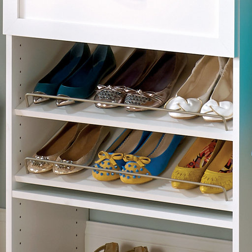 """View a Larger Image of SuiteSymphony 25"""" W Angled Shoe Shelves, Pure White"""