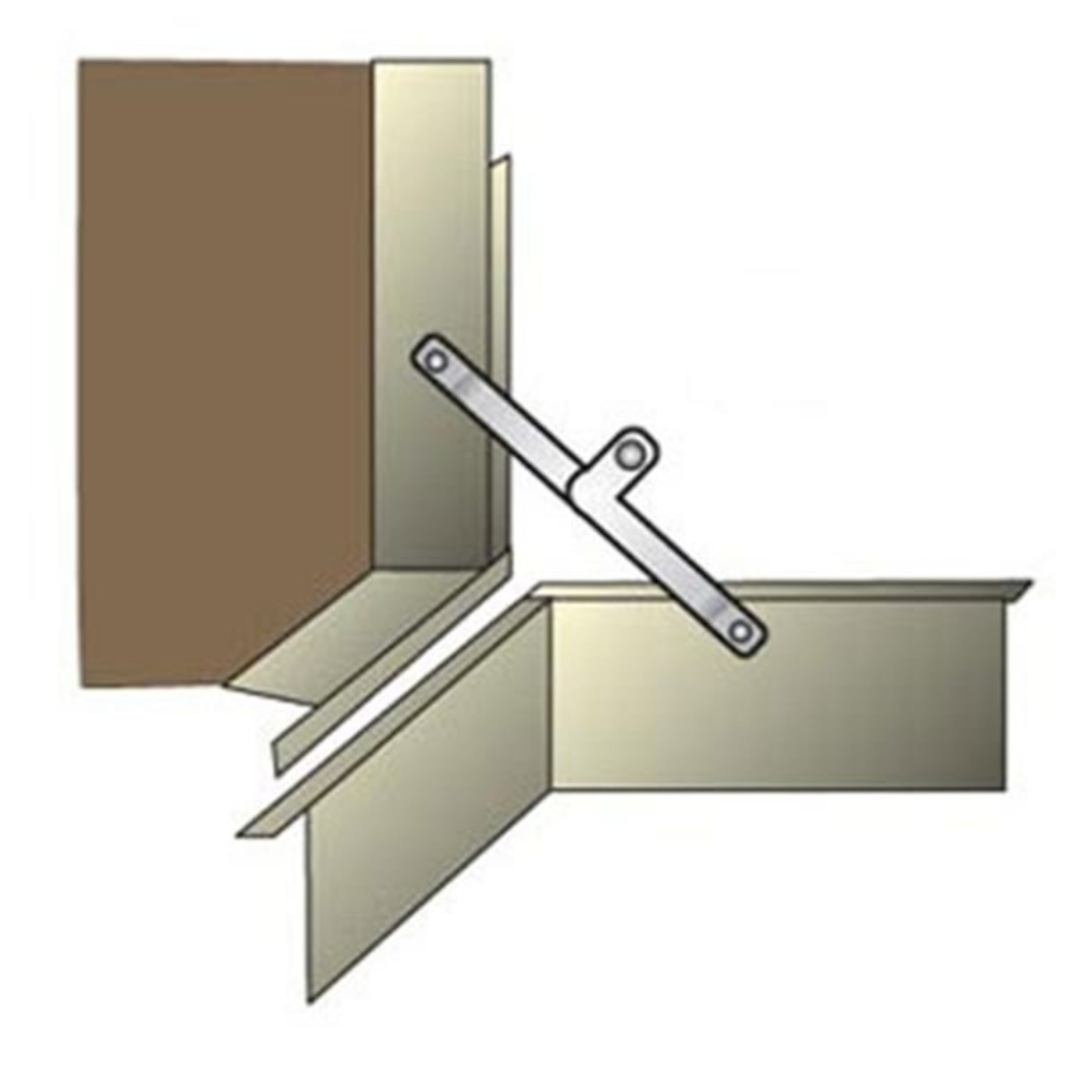View a Larger Image of Support Trunk Lid Brass