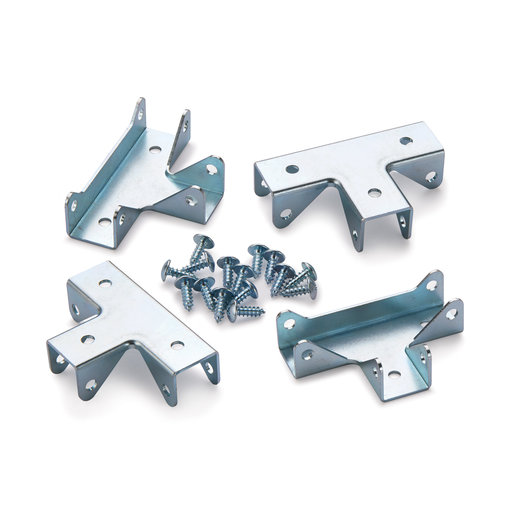 """View a Larger Image of T-Style Cubby Cube Connector 3/4"""" Zinc 4 pc"""