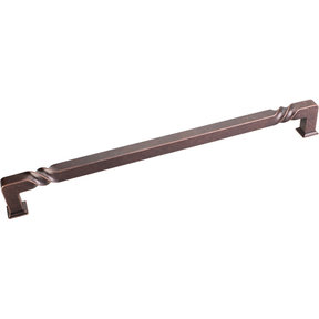 """Tahoe Appliance Handle, 12"""" C/C, Distressed Oil Rubbed Bronze"""