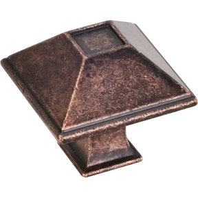 "Tahoe Small Knob, 1-1/4"" O.L., Distressed Oil Rubbed Bronze"