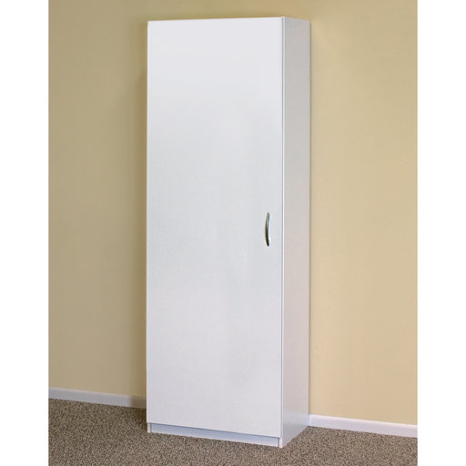 View a Larger Image of Tall Flat Panel Storage Cabinet, White