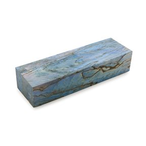 """Tamarind Spalted 1"""" x 1-1/2"""" x 5"""" Wood Knife Scale Blank Stabized & Dyed Blue"""