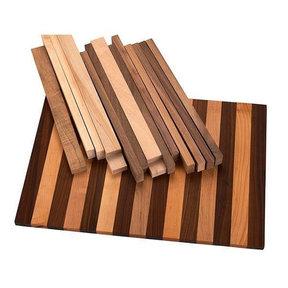 """3/4"""" x 16"""" x 22-1/2"""" Walnut & Maple Tap Room Cutting Board Kit"""