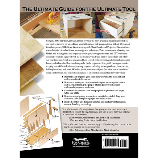 View a Larger Image of The Complete Table Saw Book, Revised Edition