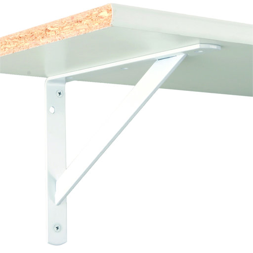 """View a Larger Image of The MAX Bracket Heavy-Duty Shelf Brackets, 15"""", White Finish"""