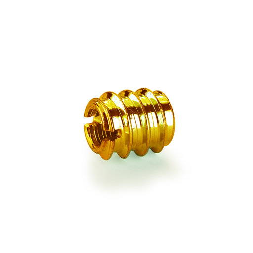 """View a Larger Image of Threaded Insert - 3/8"""" x 16 TPI - Brass - 8 Piece"""