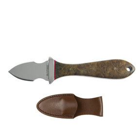 Tide - Maple Burl Oyster Knife, Stainless Steel