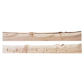 """Timber Link Rustic Maple Live Edge 1.5"""" x 5-8"""" x 6' (S3S)"""