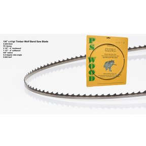 "Bandsaw Blade - 105"" x 1/4"" x 4 TPI - Positive Claw"