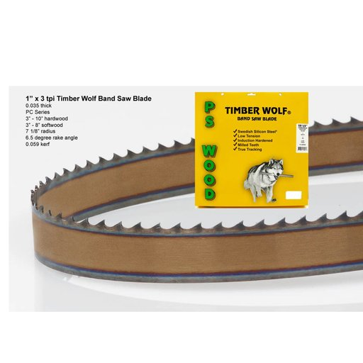 """View a Larger Image of Bandsaw Blade 153"""" x 1"""" x 3 TPI Positive Claw"""