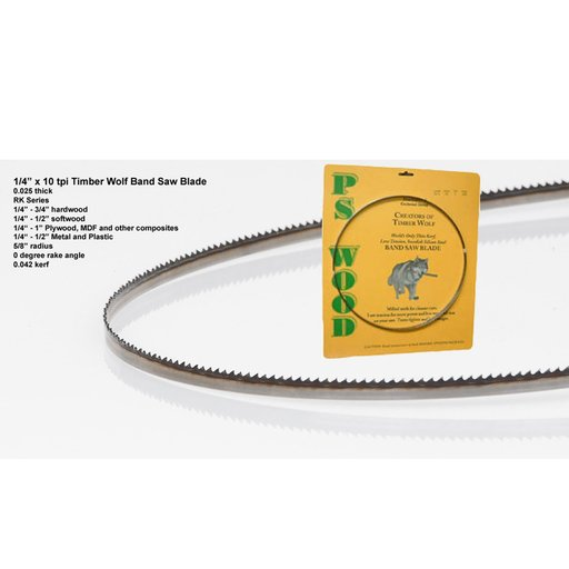 """View a Larger Image of Bandsaw Blade 82"""" x 1/4"""" x 10 TPI Raker"""