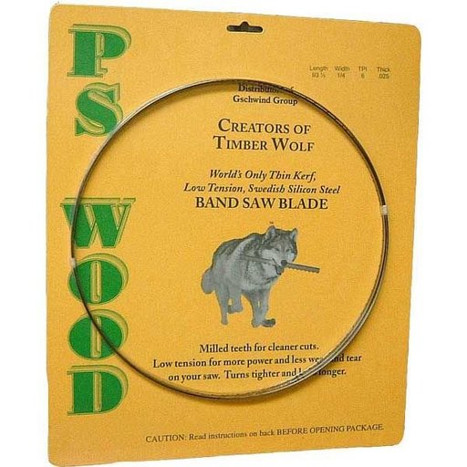 """View a Larger Image of Timber Wolf Bandsaw Blade 93-1/2"""" x 3/4"""" x 2/3 TPI Variable Positive Claw"""