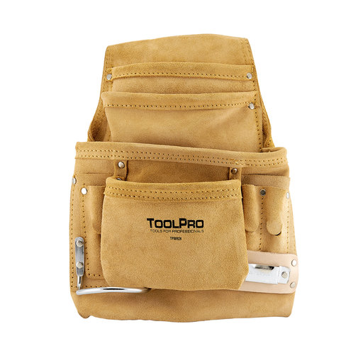 View a Larger Image of 10-Pocket Nail and Tool Pouch, Suede Leather