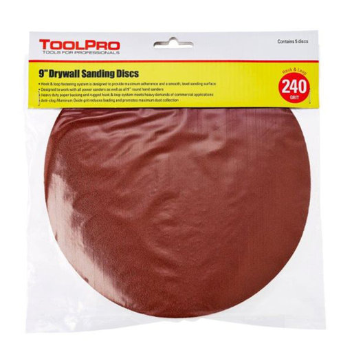 View a Larger Image of 240 Grit Hook and Loop Sanding Discs, 25-Pack