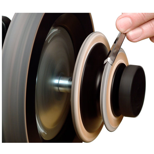 View a Larger Image of Profiled Leather Honing Wheel, LA-120