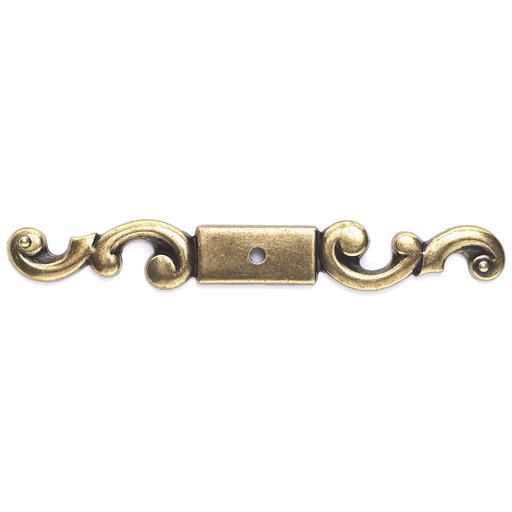 """View a Larger Image of Traditional Backplate for Knob, 5-1/4"""" x 5/8"""", Burnished Brass"""
