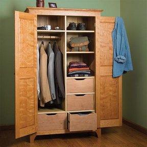 Traditional Cherry Wardrobe - Paper Plan