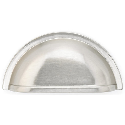 """View a Larger Image of Traditional Cup Pull, 3"""" Center-to-Center, Brushed Nickel"""