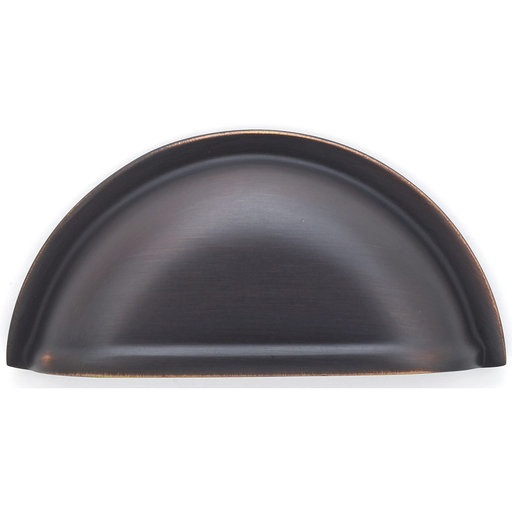 """View a Larger Image of Traditional Cup Pull, 3"""" Center-to-Center, Brushed Oil-Rubbed Bronze"""