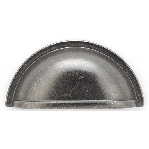 """View a Larger Image of Traditional Cup Pull, 3"""" Center-to-Center, Pewter"""
